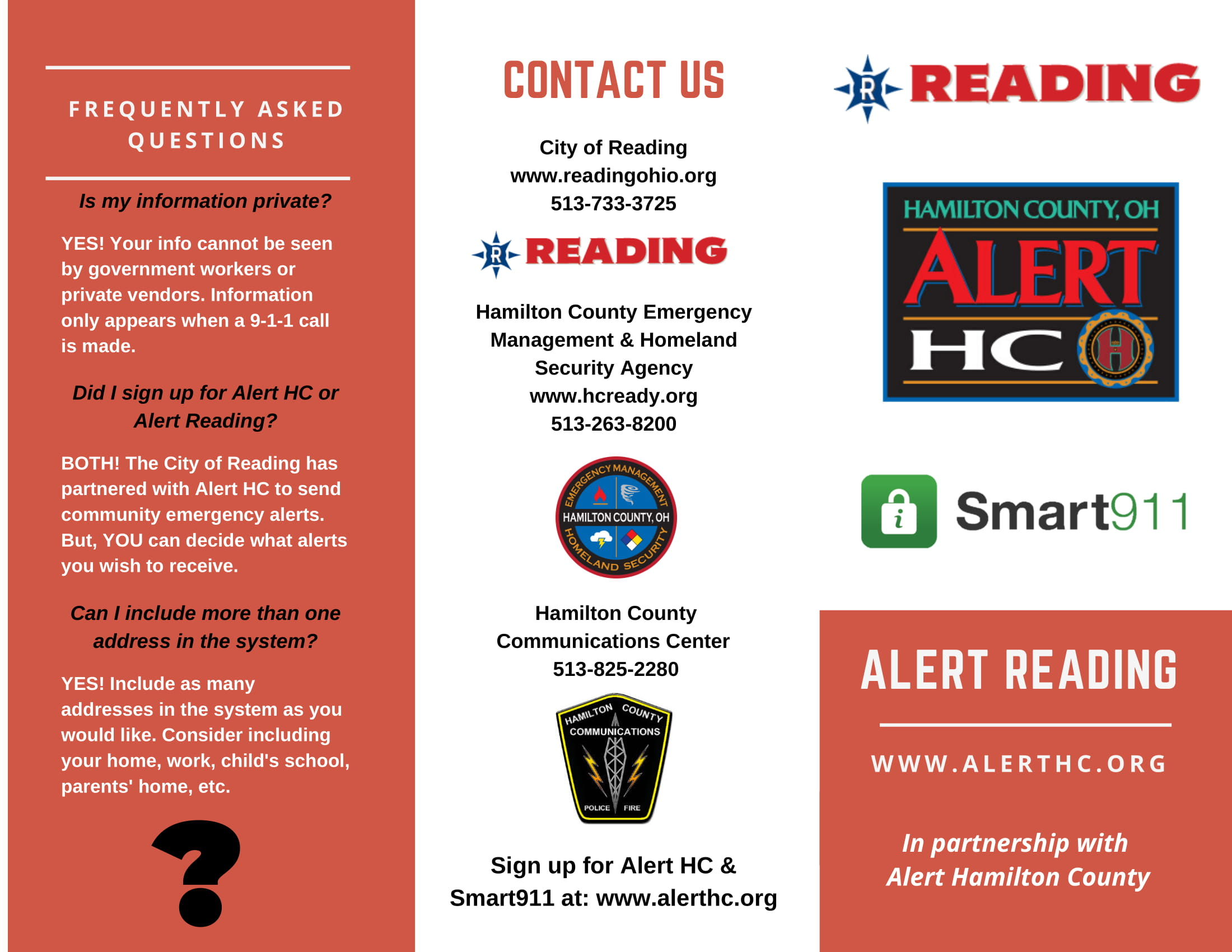Alert Reading Pamphlet